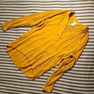 H&M Mustard Yellow Blouse